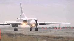 Russian strategic bombers Tu-95 and Tu-22M3 in action - YouTube
