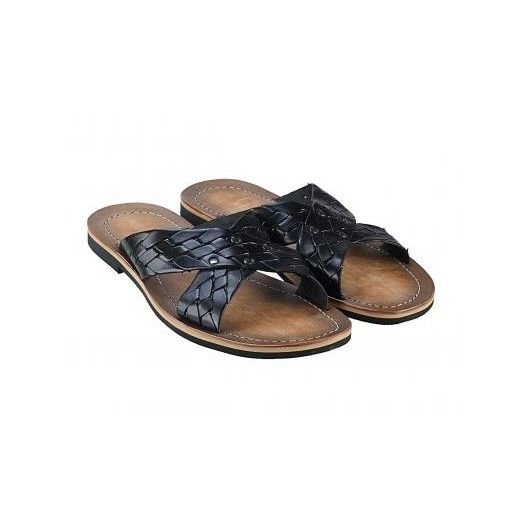 Pánske kožené sandále čierne PT118 - manozo.hu