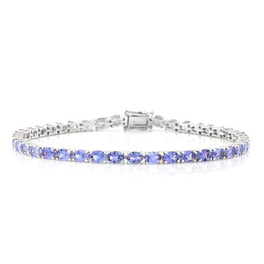 9 carat white gold tanzanite bracelet