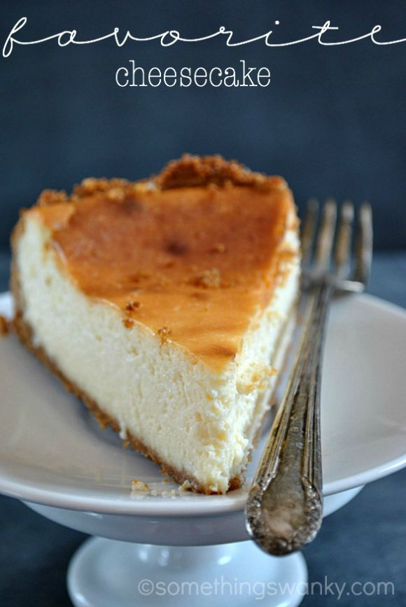 Mi receta de queso Favorito. Yo Nunca voy a HACER OTRA receta pastel de queso del siempre otra vez! # Receta en www.somethingswanky.com