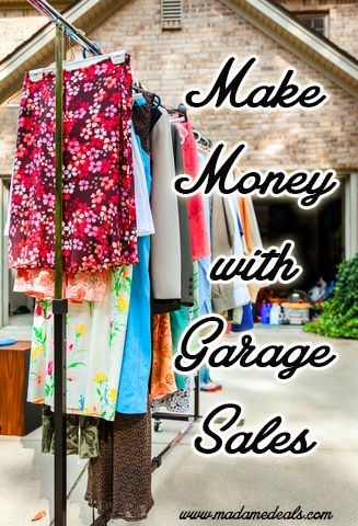 Make Money With Community Garage Sales http://madamedeals.com/make-money-community-garage-sales/ #inspireothers #money