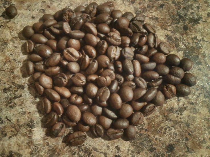 batch 8. excelsa bean. attempt at dark roast still not
