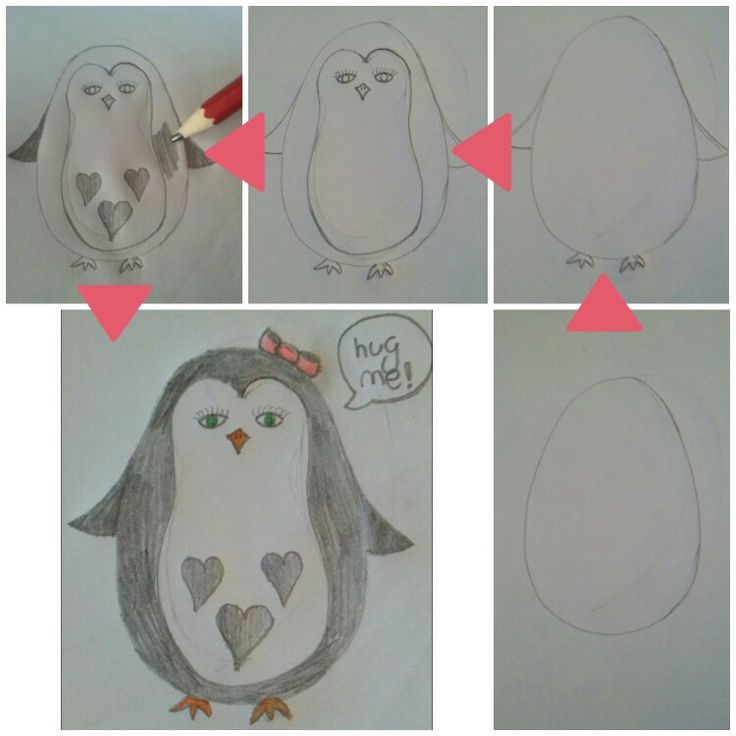 How to draw a penguin in 5 steps