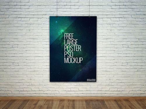 Бесплатный макет большого плаката