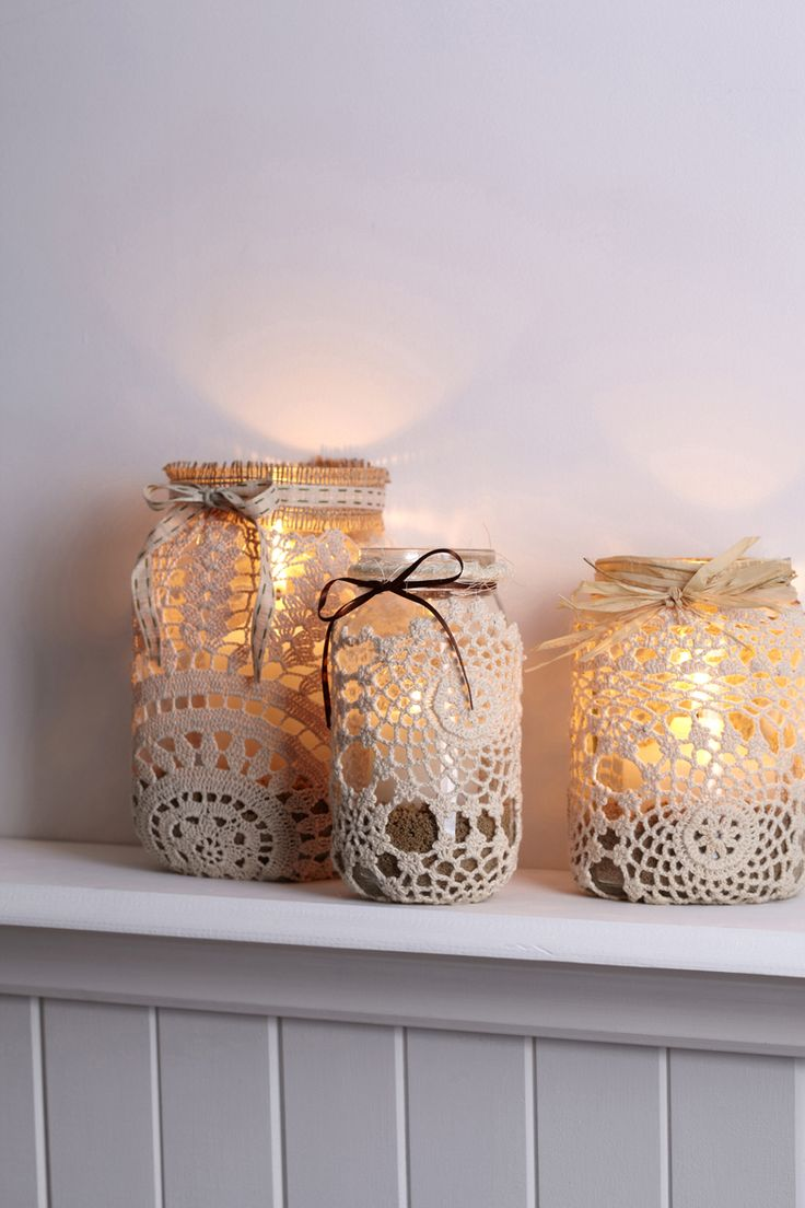 If allowed candles, we could have the mason jar with condoles and a purple doily