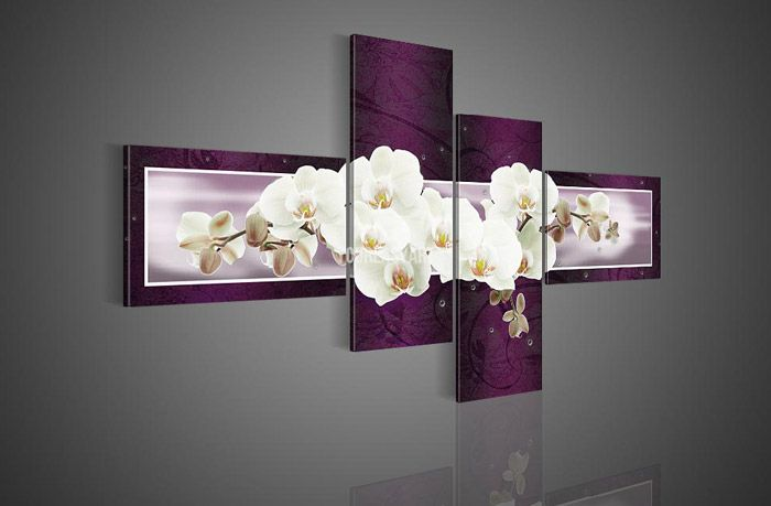 Modern Plastic Wall Decor : Piece wall art no framed modern abstract acrylic flower