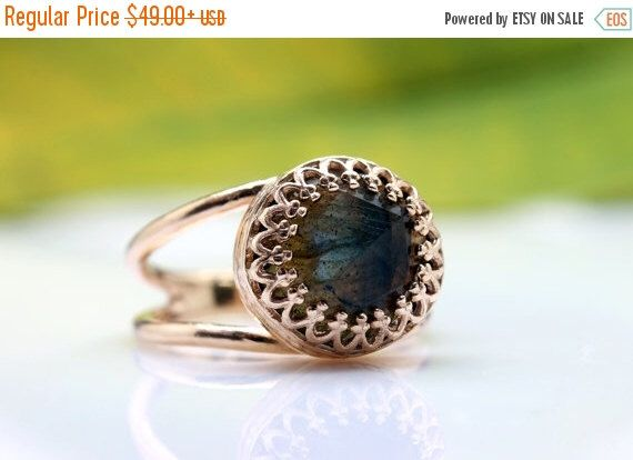 MOTHERS DAY GIFT - Labradorite Ring,Rose Gold Ring,Gemstone Ring,Delicate Ring,Pink Gold Ring,14k Gold Filled by AnemoneJewelry on Etsy https://www.etsy.com/listing/197497824/mothers-day-gift-labradorite-ringrose