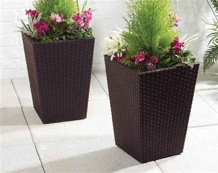 Keter Rattan-Effect Planter | Garden Furniture | Garden And Outdoor | homeshopping.24ace.co.uk