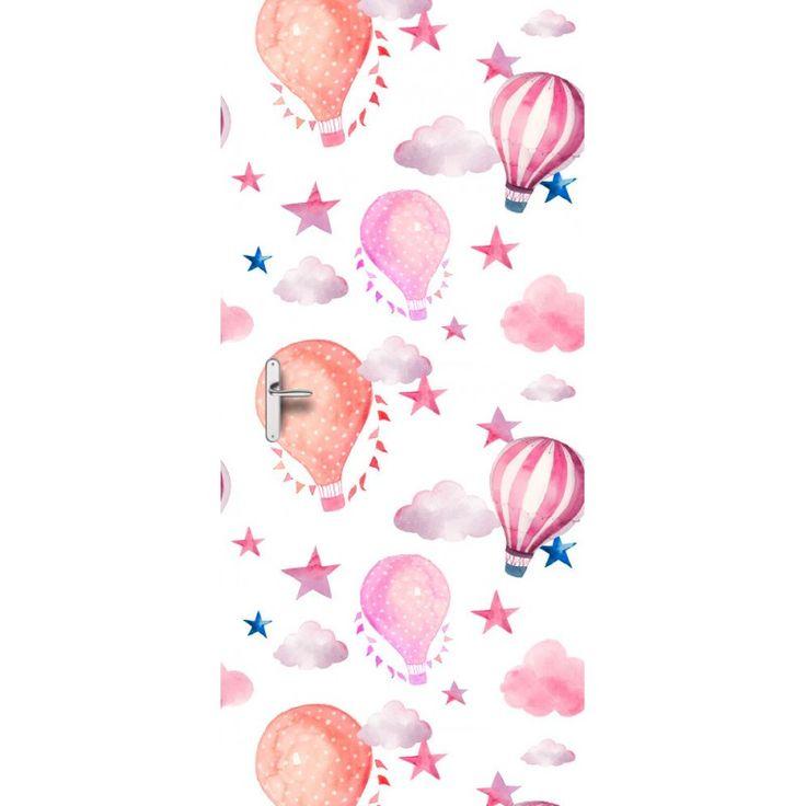 Deursticker Luchtballon | Een deursticker is precies wat zo'n saaie deur nodig heeft! YouPri biedt deurstickers zowel mat als glanzend aan en ze zijn allemaal weerbestendig! Verkrijgbaar in verschillende afmetingen.   #deurstickers #deursticker #sticker #stickers #interieur #interieurprint #interieurdesign #foto #afbeelding #design #diy #weerbestendig #baby #babykamer #meidenkamer #meisjeskamer #roze #oranje #verf #kunst #art #illustratie #luchtballon #ballon #wolken #sterren