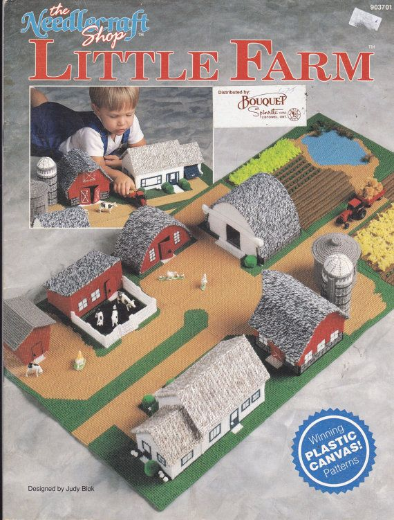 Plastic Canvas Pattern Little Farm Play Mat With Barn