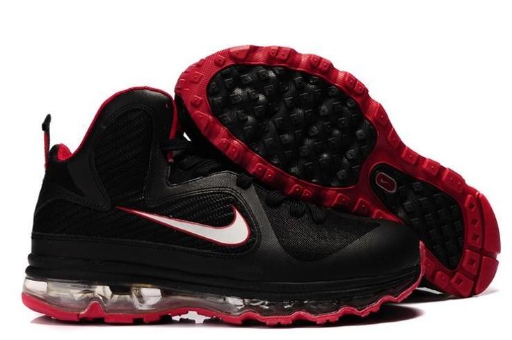 Nike LeBron 9 \u0026 LeBron IX Men\u0027s Basketball Shoe 469764-003 Black/Red