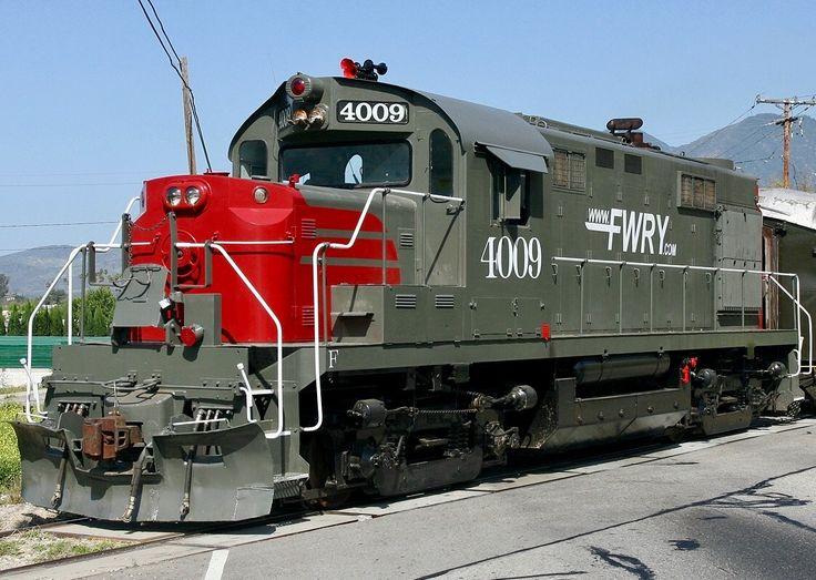 Fillmore & Western Railroad, Alco RS-32 diesel-electric locomotive in Fillmore, California, USA