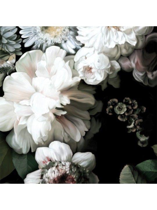 Dark Floral Vinyl Wallcovering