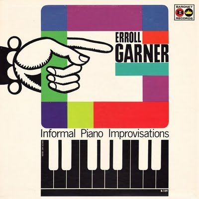 Erroll Garner: Informal Piano Improvisations: Baronet Records  (Dial Recordings) #recordcover