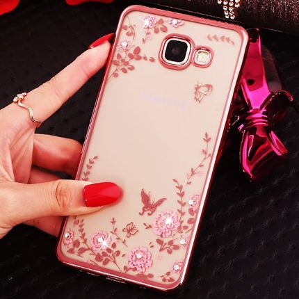 Rhinestone Case cover For Samsung Galaxy A5 2016 A5100 A510F phone case Finger Rotated Ring Holder Stand soft Silicon TPU Case