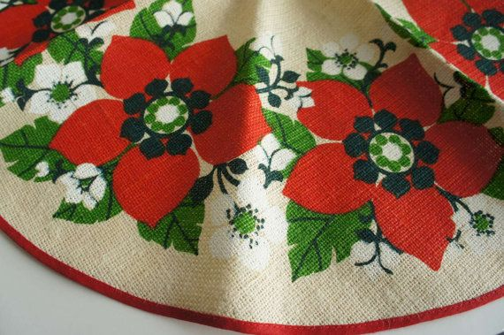 Linen Scandinavian Tablecloth Round Table by ViewridgeVintage