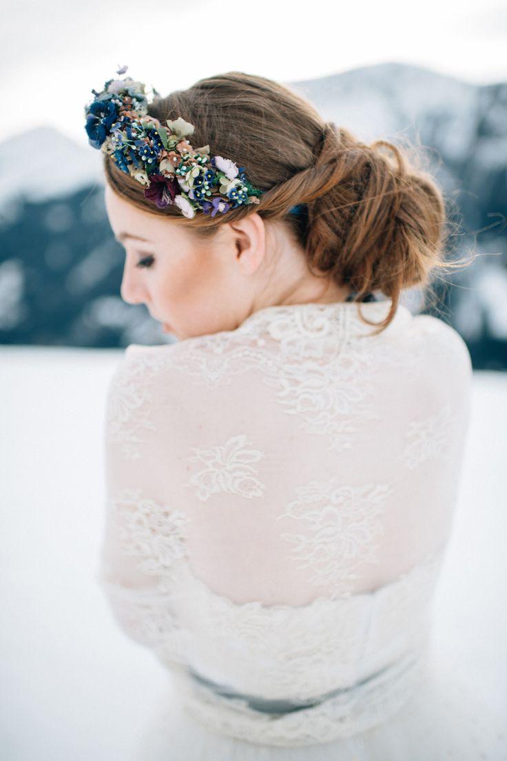 Photography: Manuela Kalupar - www.manuelakalupar.com/ Read More on SMP: http://www.stylemepretty.com/destination-weddings/2016/04/04/beautiful-blues-winter-wedding-inspiration/