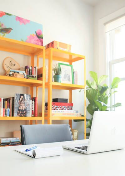 Before After The Hellogiggles Office Makeover Home