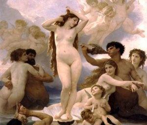 비너스의 탄생. 오르세 미술관 소장. by. 윌리앙 아돌프 부그로(1879)