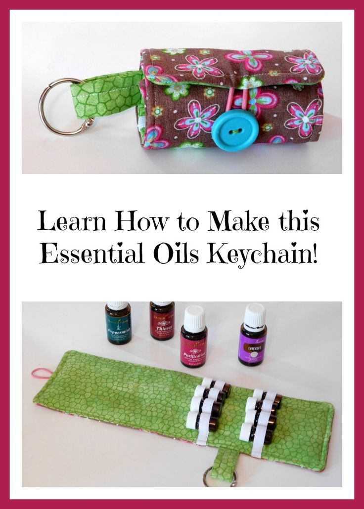 This Keychain is a great gift for any essential oils lover and it's easy to make! Check out the tutorial!