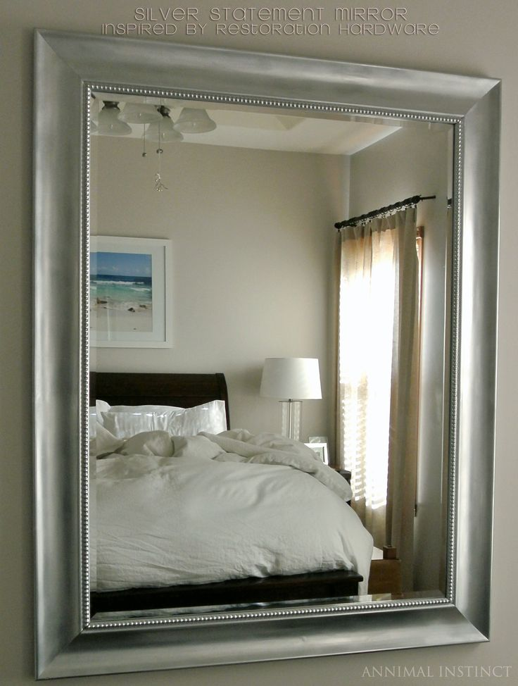 Knock it Off – Restoration Hardware Baroque Aged Silver-Leaf Mirror – Annimal Instinct Just bought a mirror from Goodwill for $12 and I'm doing this!