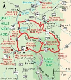 map of needles highway south dakota | Hot Springs Super 8 Motel | Black Hills | South Dakota | Needles Hwy ...