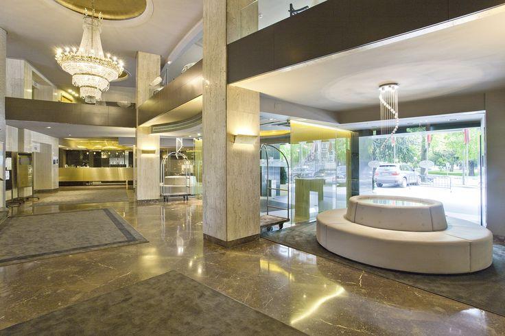 Down Lobby Area. Hotel Tres Reyes. Pamplona. Spain.