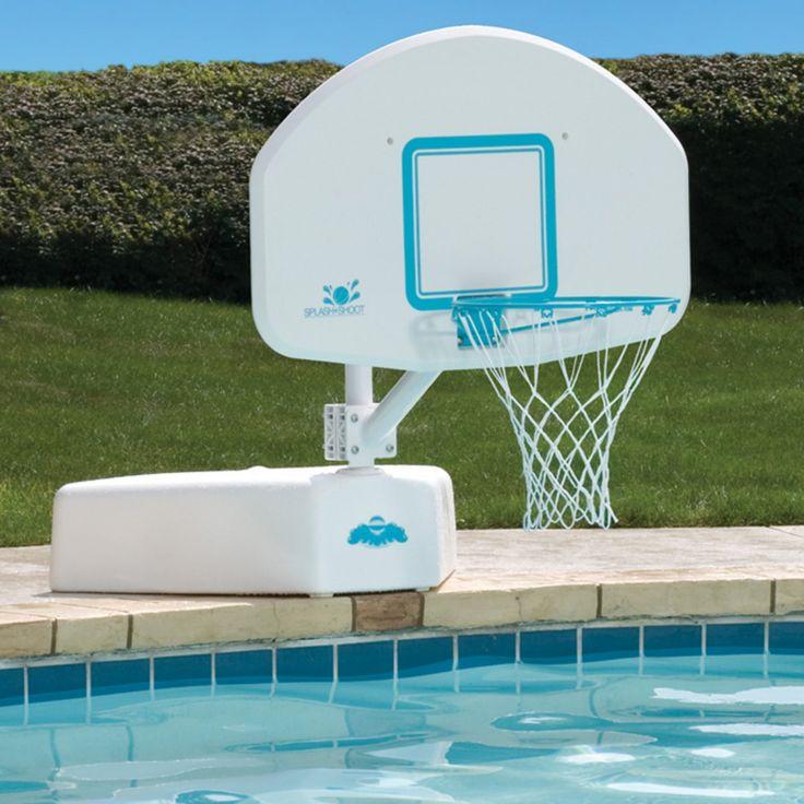 Splash & Shoot Swimming Pool Basketball Hoop with Stainless Steel Rim - B600 STAINLESS