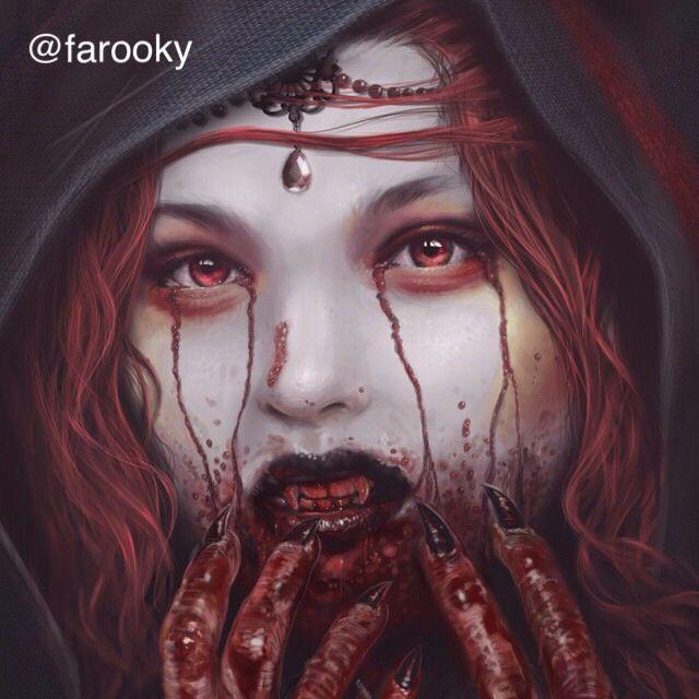 gothic vampire bloody girl - photo #27
