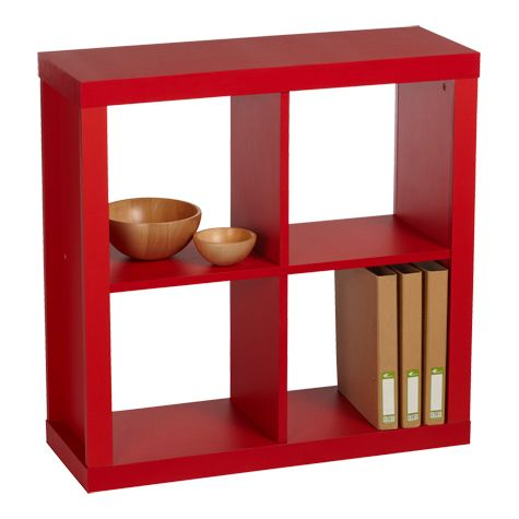 product image for cluedo four cube storage unit red