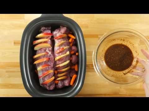 Slow Cooker Hasselback Apple Pork Loin – 12 Tomatoes