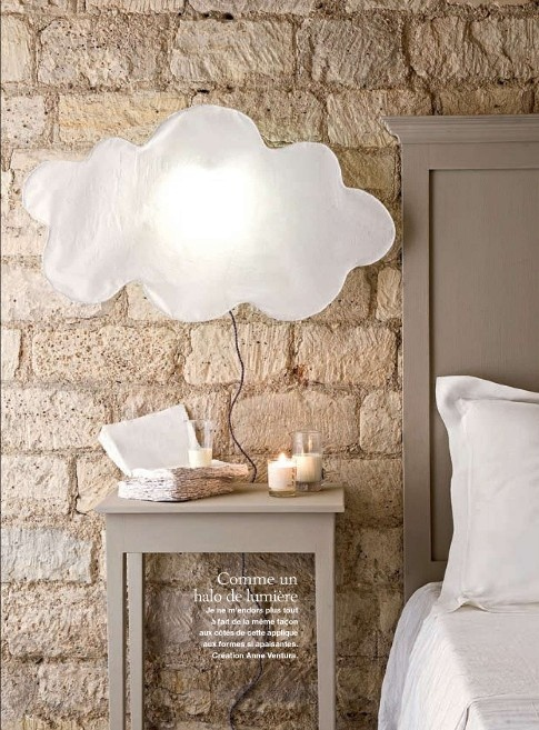 cloud lamp. Marie Claire Idees, March/April