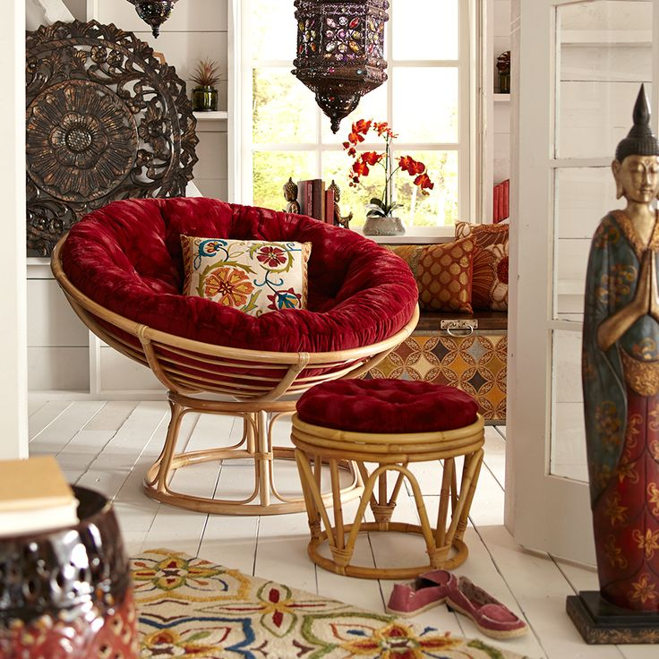 Global touches for a philosophical sagittarius reading for Where to buy papasan chair