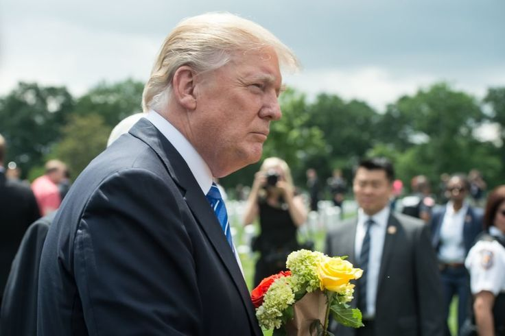 Trump Laid Flowers on a Grave in Arlington. The Identity of the Soldier Buried There Hits Close to Home
