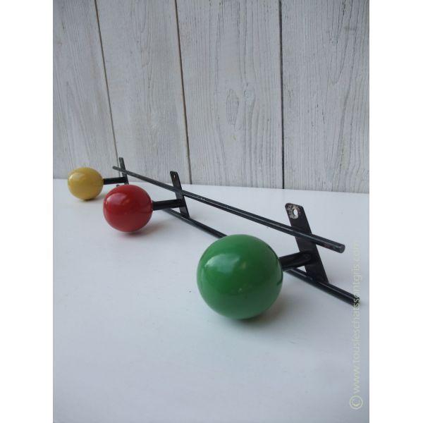 Porte-manteaux vintage 3 boules années 50/60