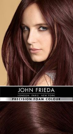 images of dark red brown hair | 4R Radiant Red Dark Red Brown - Precision foam permanent colour shades ...