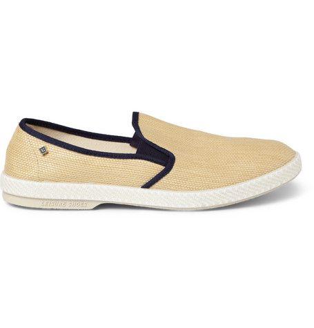Rivieras Rubber-Soled Raffia Slip-On Shoes | MR PORTER