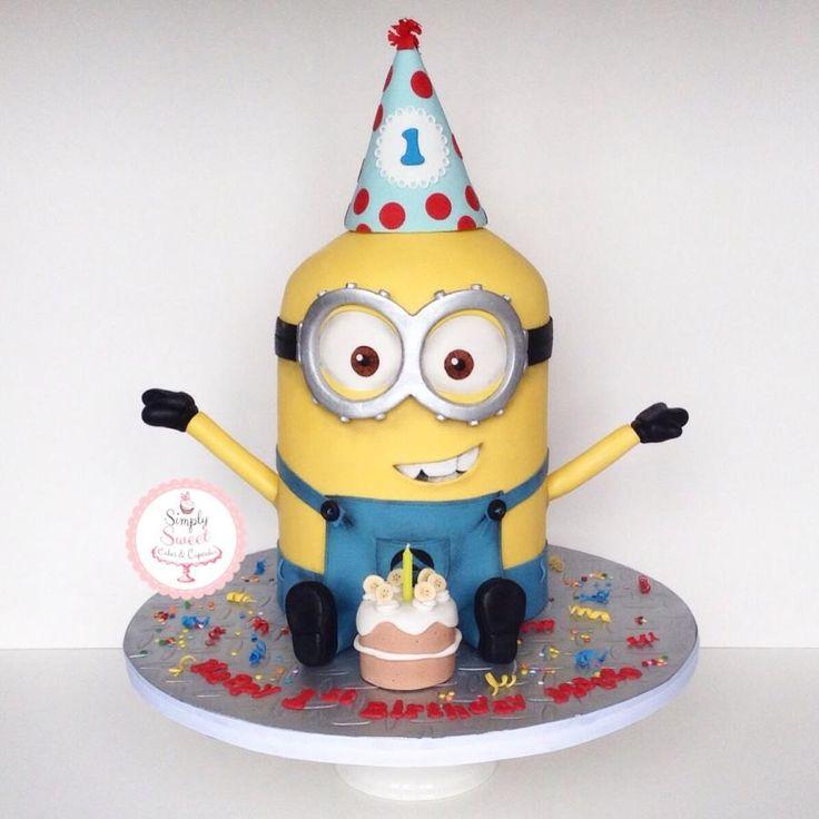 Birthday Minion  - Cake by SimplySweetCakes