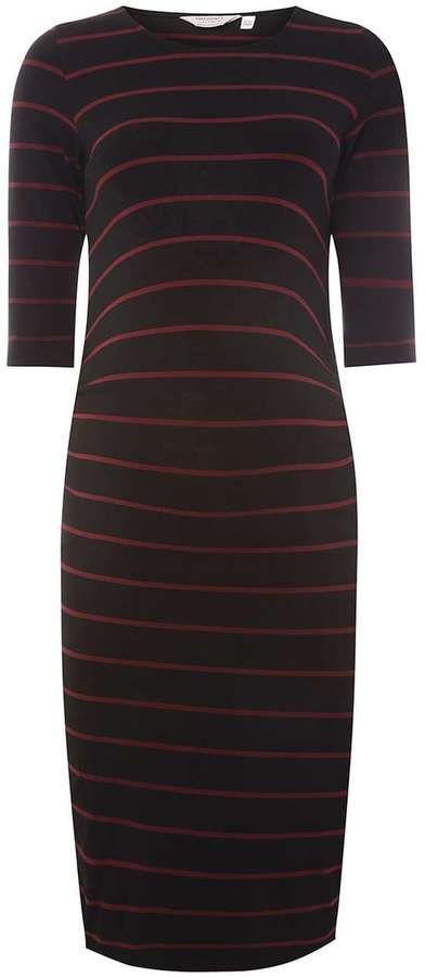 **Maternity Multi Coloured Striped Bodycon Dress