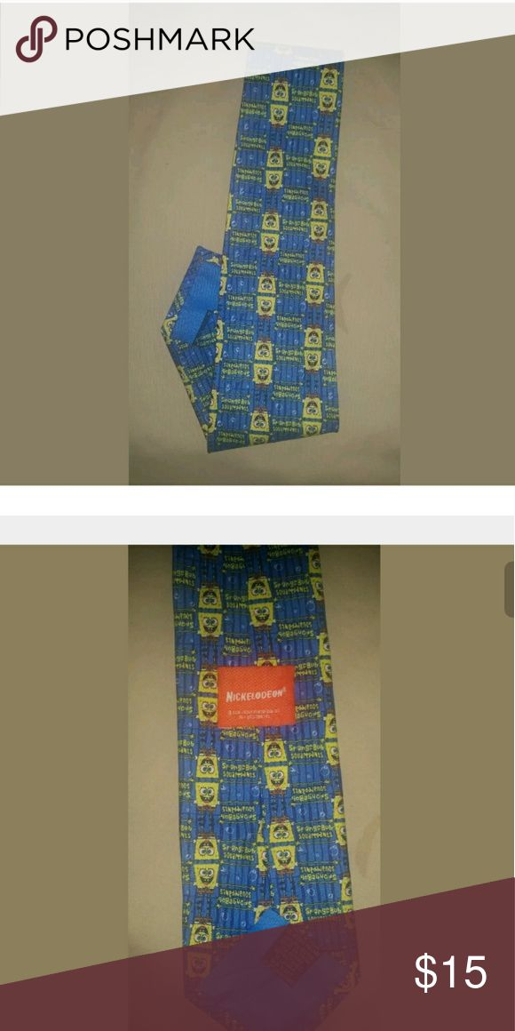 Nickelodeon SpongeBob Silk Necktie My pictures are my description   Please feel free to contact me with any questions, concerns or additional pics   Items are shipped Mondays, Wednesdays and Fridays  Thanks for stopping by Nickelodeon Accessories Ties