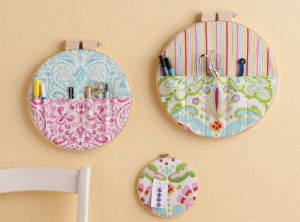 sewing hoop wall storage