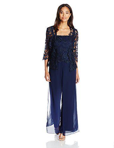 Emma Street Women S Lace Pant Suit Combo Navy 8 Emma St Bride