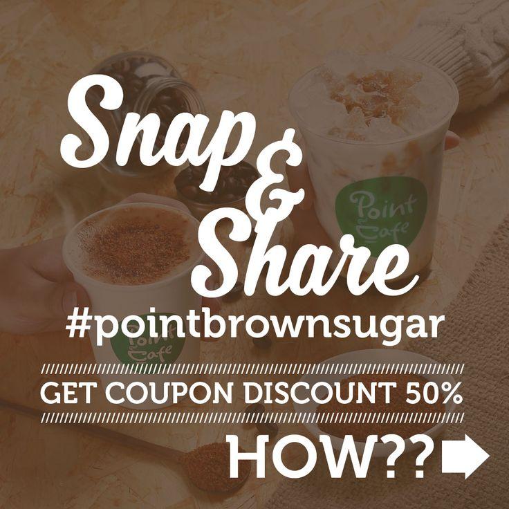 Mau dapat Diskon 50% #brownsugarlatte ? Caranya gampang,cuma tinggal Foto dan Upload di Instagram kamu.Share juga ke teman-temanmu dan jangan lupa Tag Akun @PointCafe.id serta gunakan hastag #pointbrownsugar. Kami akan mengirimkan i - kupon yang bisa kamu tukarkan untuk Diskon 50% #pointbrownsugarlatte.. Swipe for more info #snapandshare #pointbrownsugar #pointcafe #pointcafeid