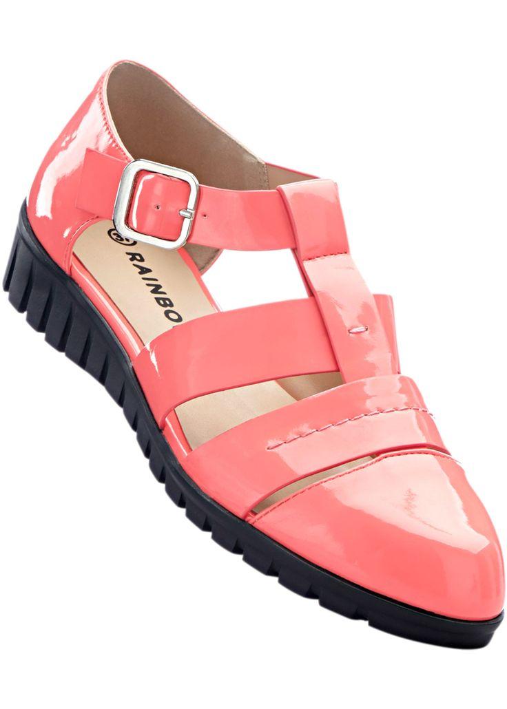 Sandalen koraal - RAINBOW nu in de onlineshop van bonprix.nl vanaf ? 29.99 bestellen. Opvallende sandalen met hak van 3 cm en gespje.