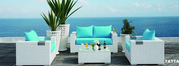 Το απεράντο γαλάζιο των ονείρων μας κατακτά το #Design! Αποκτήστε τα #Dreamy #outdoor έπιπλα «Tatta» @ #Porcelana! http://bit.ly/1njwcXJ