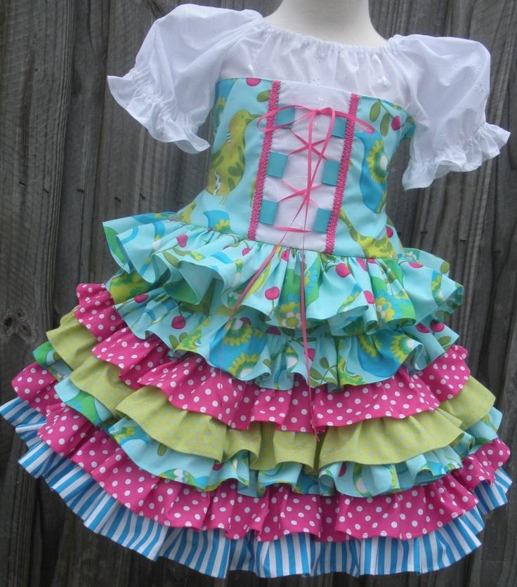 Custom Boutique Corset Nie Nie Twirl Skirt 2 3 4 5 6 7 8. $89.00, via Etsy.