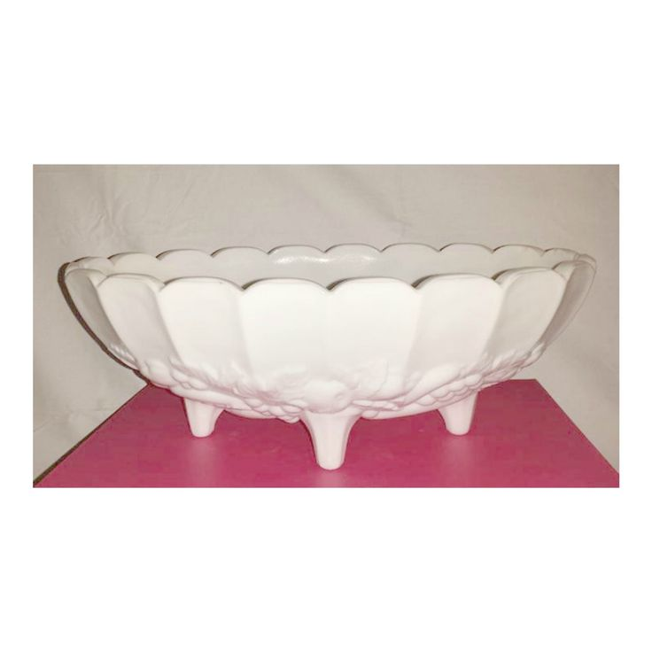 Milk Glass Console Bowl,Indiana Glass,Milk Glass Bowl,Footed Centerpiece Bowl,Garland Pattern,Milk Glass Centerpiece Bowl,LARGE Fruit Bowl by JunkYardBlonde on Etsy