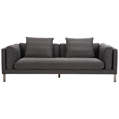comfy looking sofa but iu0027d make those square pillows a bright colour or