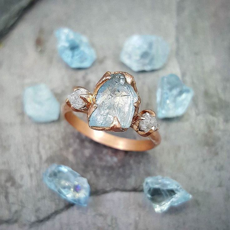 For all my ladies who have asked me to create another aquamarine with diamonds in rose gold #byangeline #somethingblue #sayyes by byangeline