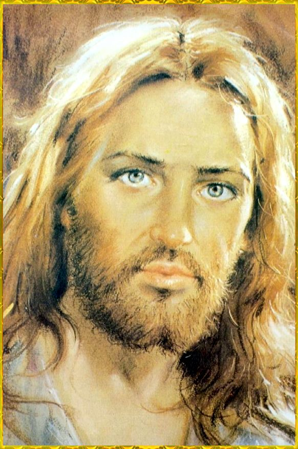 .I love this picture but Jesus would not have had blue eyes or light colored hair.